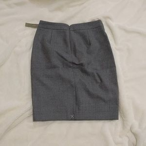 J. Crew No. 2 pencil skirt Double-serge wool Gray